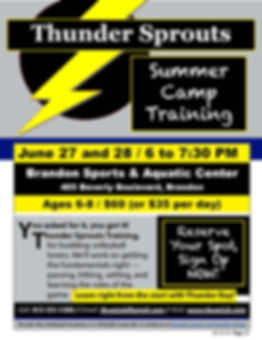 TBVA - Sprouts flyer (Summer 2019 camp).