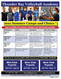 TBVA - 2021 Summer Camps & Clinics