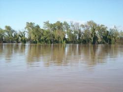 río crecido