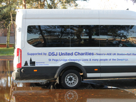 Age Concern Features St Pega Lodge and Other Donors on its New Bus