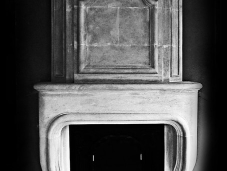 kompletny kominek w stylu prowansalskim