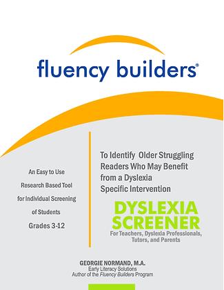 The Fluency Builders 3-12 Dyslexia Screener