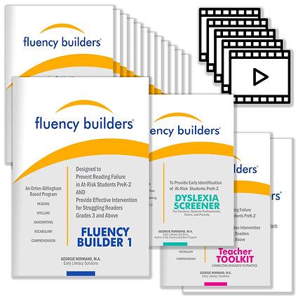 The Fluency Builders Digital Kit with the PreK-2 Dyslexia Screener