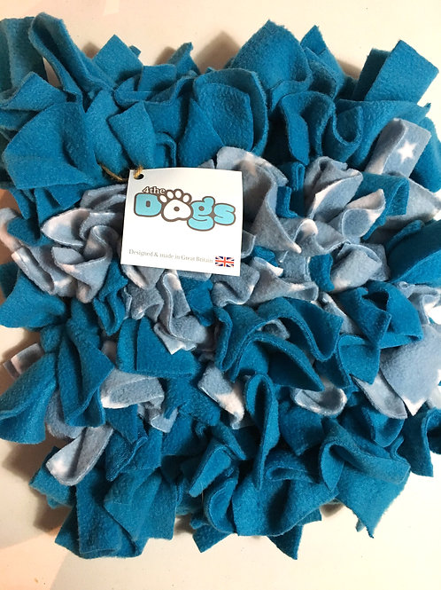 SNUFFLE MAT - BABY BLUE STAR/TURQUOISE