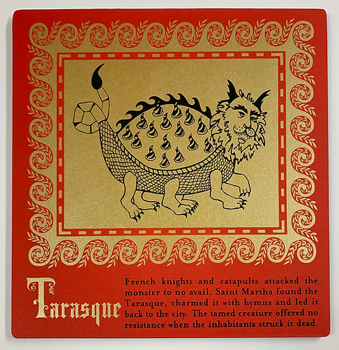Tarasque mounted print
