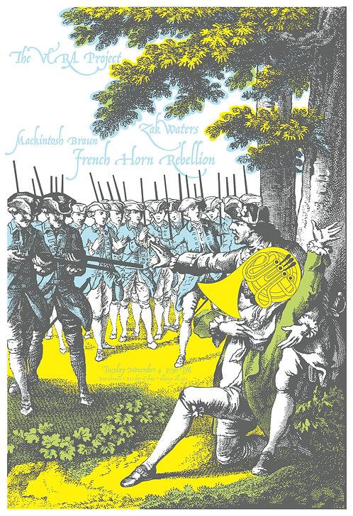 Zac Waters, Mackintosh Braun, French Horn Rebellion poster