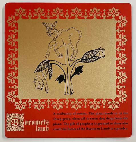Barometz lamb mounted print
