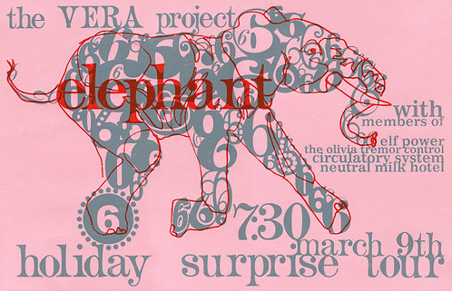 Elephant 6 surprise tour poster