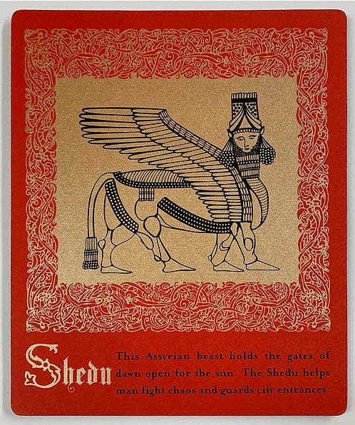 Shedu mounted print