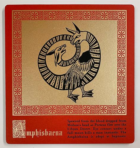 Amphisbaena mounted print