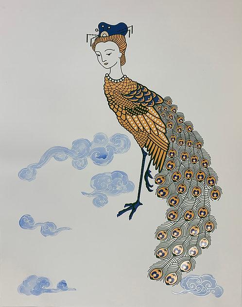 Peacock Maiden, orange