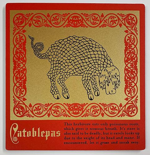 Catoblepas mounted print