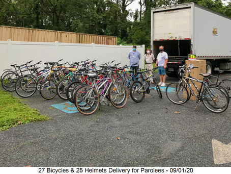 BICYCLE DELIVERY FOR PAROLEES - 09/01/2020
