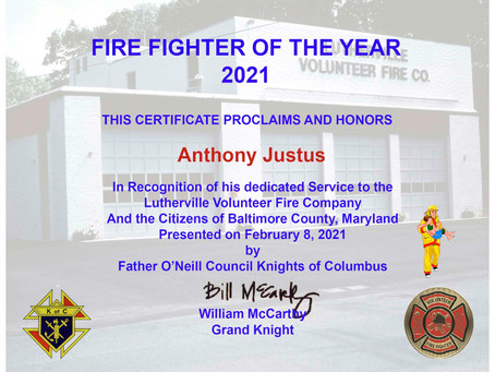2021 FIREFIGHTER OF THE YEAR - 02/08/21