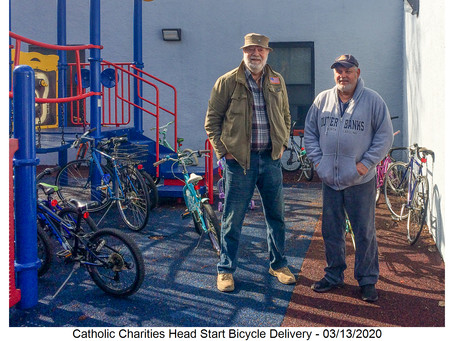 Bicycle Delivery to Head Start Program - 03/13/2020