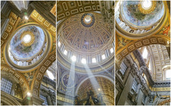 Inside the Saint Peter's Basilica