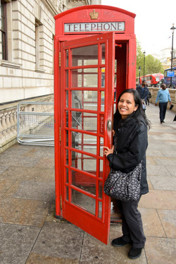 London's Iconic Red Telephone Box