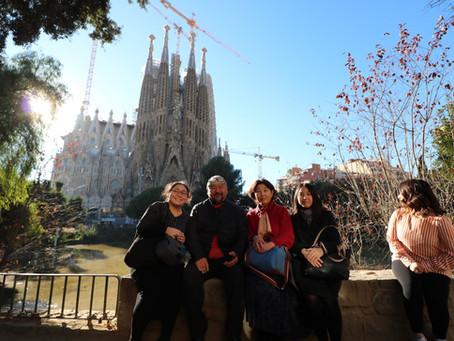 闘病中の家族旅行(バルセロナ)
