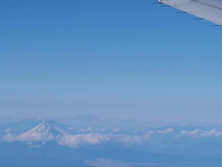 上京の飛行機は左の窓際と決めている