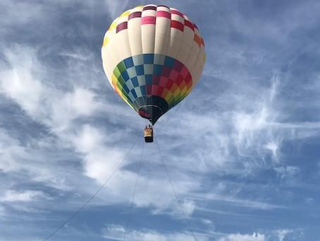 初めての気球!