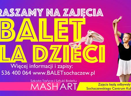 Już 17 grudnia bezpłatne zajęcia baletowe w SCK w Sochaczewie!