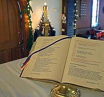 CHRISTMAS gospel book on altar.jpg