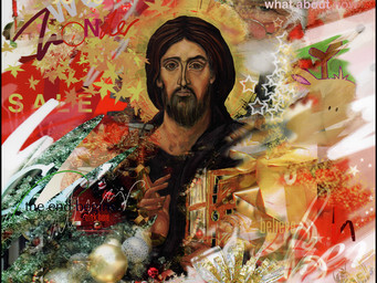 Christ in wrapping paper . . .