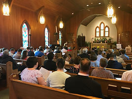 Great Easter shot - church full of peopl