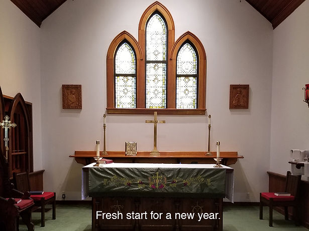 altar bare at St. Mary's Jan. 2020 by Me