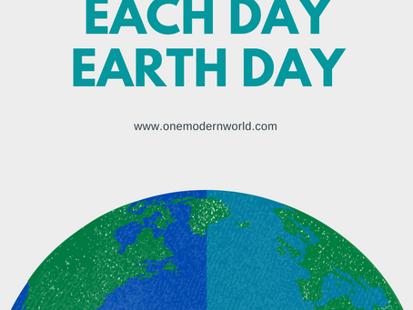 Let's make each day Earth Day!