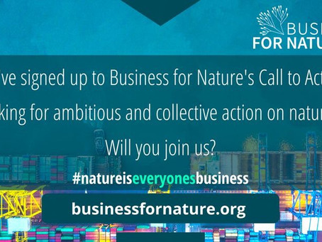 One Modern World signs Business For Nature Call to Action