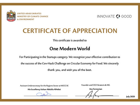 One Modern World participates in CovHack Innovation Challenge on Circular Economy for Food