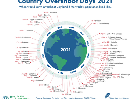 Country overshoot day 7 March 2021