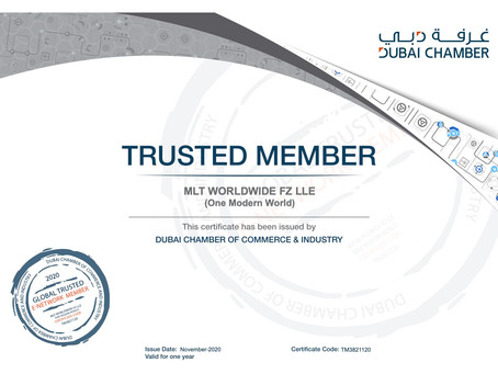 One Modern World now trusted Member of the Dubai Chamber