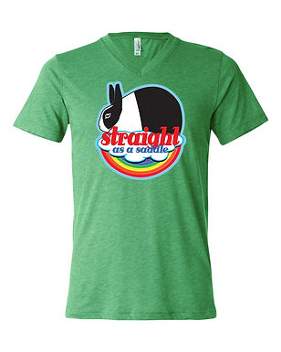 Straight As A Saddle - Dutch Adult V-Neck Tee