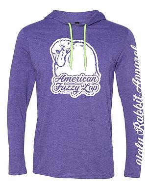 Dreamy - American Fuzzy Lop Adult Hooded Long Sleeve Tee