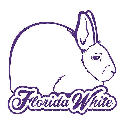 Dreamy - Florida White Decal
