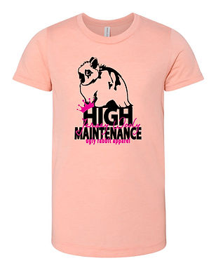 High Maintenance - Jersey Wooly Youth Tee