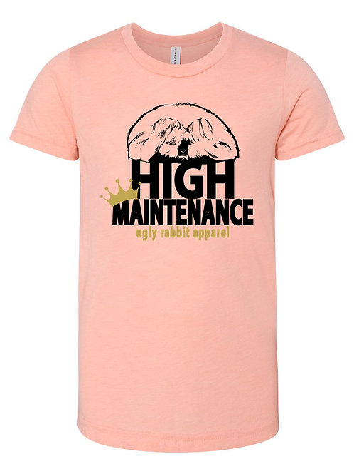 High Maintenance - English Angora Youth Tee