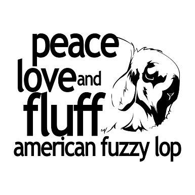 American Fuzzy Lop - Peace Love & Fluff Tee