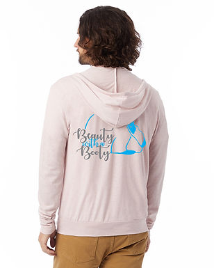 Californian - Beauty with a Booty Lightweight Zip Hoodie