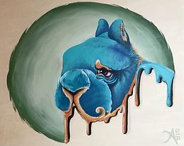 """Tidal Wave"" Netherland Dwarf Painting"