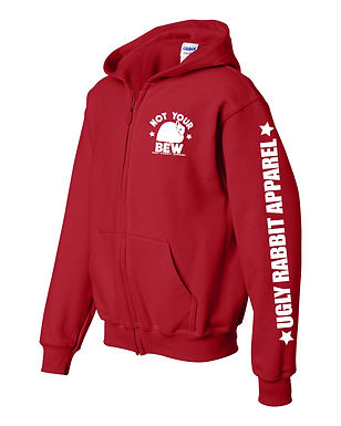 Not Your BEW - Jersey Wooly Youth Zip-Up Hoodie
