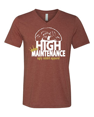 High Maintenance - English Angora Adult V-Neck Tee