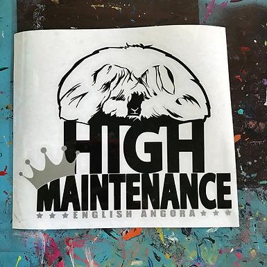 English Angora - High Maintenance Decal