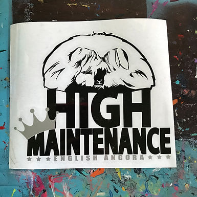 English Angora - High Maintenance Decal