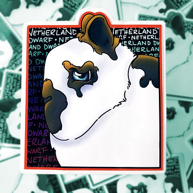 Cartoon - Netherland Dwarf Sticker