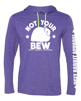 Not Your BEW - Jersey Wooly Adult Hooded Long Sleeve Tee