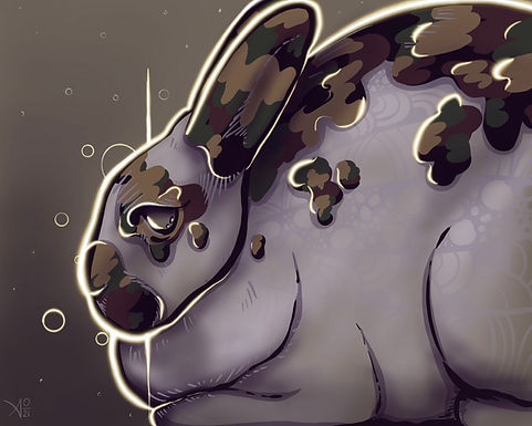 Broken - Mini Rex Art Print