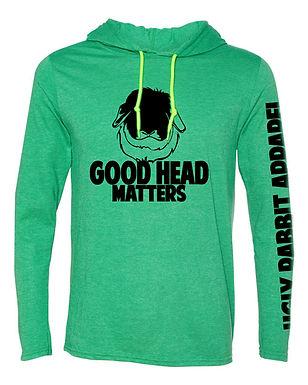 Good Head Matters - American Fuzzy Lop Adult Hooded Long Sleeve Tee